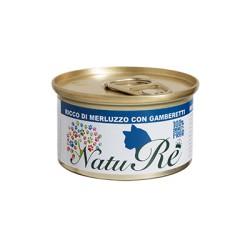 NatuRè - Cat Adult - Merluzzo e Gamberetti - Scatoletta 85 Gr.